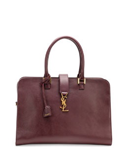 Saint Laurent Monogramme Small Zip-Around Satchel Bag, Bordeaux