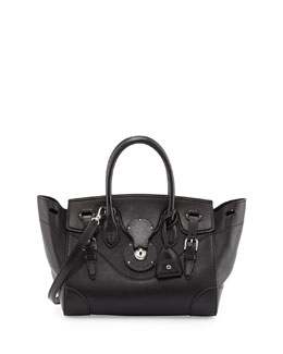 Ralph Lauren Soft Ricky 27 Calfskin Satchel Bag, Black