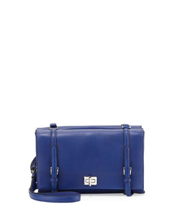 Prada Lux Calf Shoulder Bag, Dark Blue (Inchiostro)