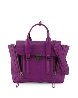 3.1 Phillip Lim Pashli Medium Leather Satchel Bag, Orchid