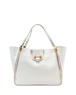 Tom Ford Sedgwick Medium Zip Tote Bag, White