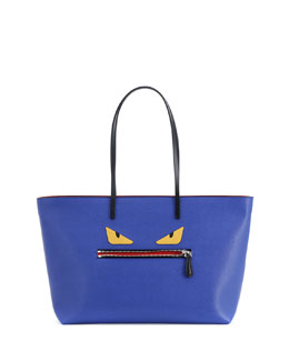 Fendi Monster Tote Bag, Blue