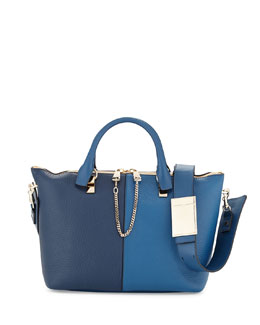 Chloe Baylee Medium Bicolor Shoulder Bag, Cobalt/Navy