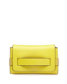 Chloe Elle Clutch Bag with Shoulder Strap, Yellow
