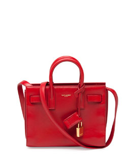Saint Laurent Sac de Jour Nano Crossbody Bag, Red