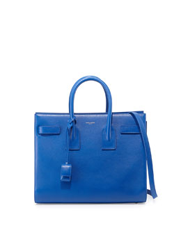 Saint Laurent Sac de Jour Small Carryall Bag, Cobalt