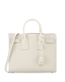 Saint Laurent Sac de Jour Small Tote Bag, White
