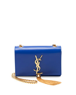 Saint Laurent Monogramme Small Crossbody Bag, Cobalt Blue