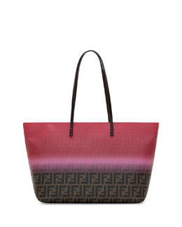 Fendi Painted Zucca Medium Roll Tote Bag, Pink