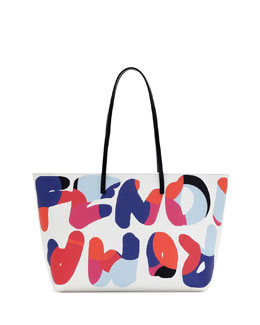 Fendi Fendi Roma Roll Tote Bag, White