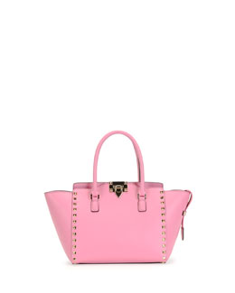Valentino Rockstud Small Shopper Bag, Pink