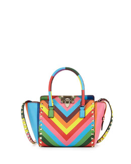 Valentino 1973 Micro Mini Shopper Bag, Multicolor