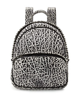 Alexander Wang Dumbo Pebbled Backpack, White/Black
