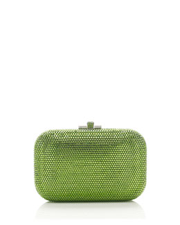 Judith Leiber Couture Crystal Slide-Lock Clutch Bag, Fern Green