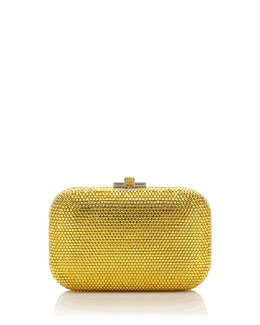 Judith Leiber Couture Crystal Slide-Lock Clutch Bag, Sunflower