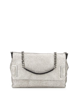 Jimmy Choo Ally Flap Shoulder Bag, Silver