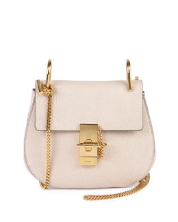 Chloe Drew Small Chain Shoulder Bag, Off White