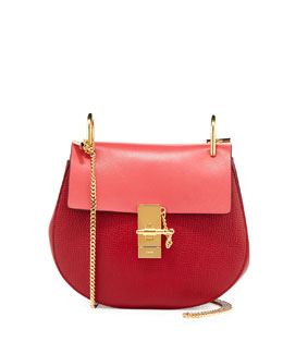 Chloe Drew Small Chain Shoulder Bag, Red