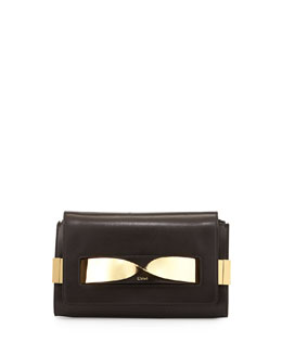 Chloe Elle Medium Chain Clutch Bag, Black