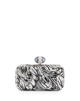 Judith Leiber Couture New Soap Dish Crystal Clutch Bag, Silver Multi