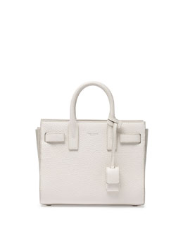 Saint Laurent Sac de Jour Mini Crossbody Bag, White