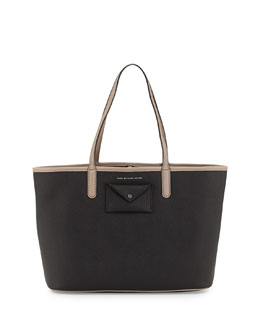 MARC by Marc Jacobs Metropolitote Tote Bag, Black/Tan