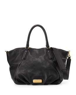 MARC by Marc Jacobs New Q Fran Leather Tote Bag, Black