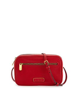 MARC by Marc Jacobs Sally Pebbled Leather Crossbody Bag, Rosey Red