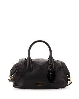 MARC by Marc Jacobs Legend Medium Leather Satchel Bag, Black