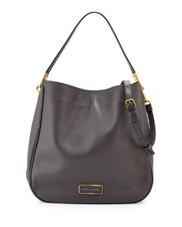 MARC by Marc Jacobs Ligero Leather Hobo Bag, Gunmetal