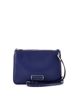 MARC by Marc Jacobs Ligero Double Percy Shoulder Bag, Mineral Blue