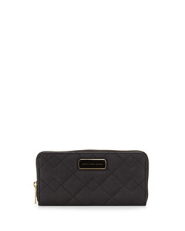MARC by Marc Jacobs Sophisticato Quilted Slim Zip Wallet, Black