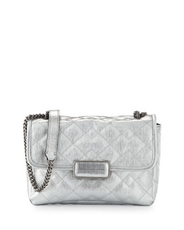 MARC by Marc Jacobs Rebel 24 Quilted Shoulder Bag, Silver