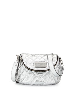MARC by Marc Jacobs New Q Natasha Quilted Crossbody Bag, Silver