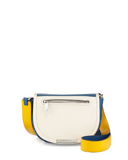 MARC by Marc Jacobs Luna Flap-Top Crossbody Bag, White/Blue