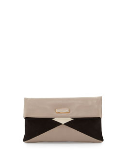 MARC by Marc Jacobs Hvac Colorblocked Clutch Bag, Taupe/Grey/Multi
