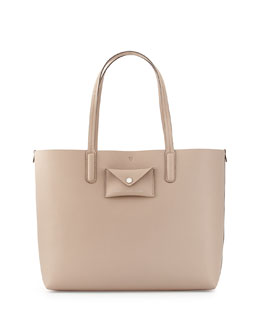 MARC by Marc Jacobs Metropolitote Saffiano Tote Bag, Taupe Gray