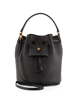 MARC by Marc Jacobs Metropoli Saffiano Bucket Bag, Black