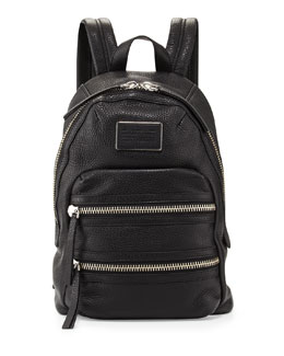 MARC by Marc Jacobs Domo Biker Leather Backpack, Black