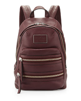 MARC by Marc Jacobs Domo Biker Leather Backpack, Cardamom