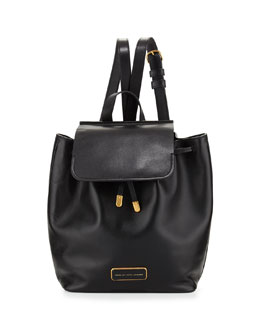 MARC by Marc Jacobs Ligero Smooth Leather Backpack, Black