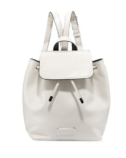 MARC by Marc Jacobs Ligero Leather Flap-Top Backpack, Tumbleweed Beige