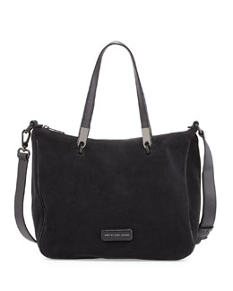 MARC by Marc Jacobs Ligero Sporty Suede Ninja Shoulder Bag, Black