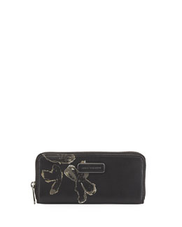MARC by Marc Jacobs Ligero Painted Flower Clutch Bag, Black Multi