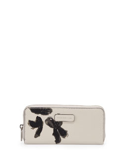 MARC by Marc Jacobs Ligero Flower Painted Zip Wallet, Tumbleweed Beige