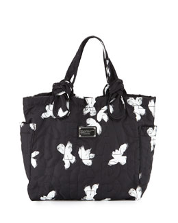 MARC by Marc Jacobs Pretty Nylon Tate Medium Tote Bag, Black/Multi