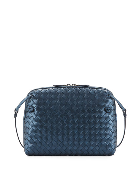 Bottega Veneta Veneta Small Woven Messenger Bag