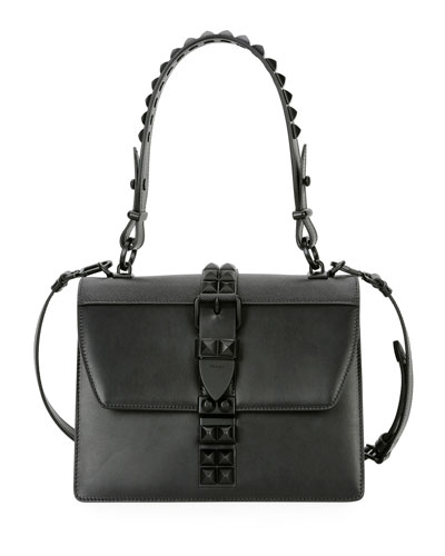City Calf Studded Top-Handle Bag