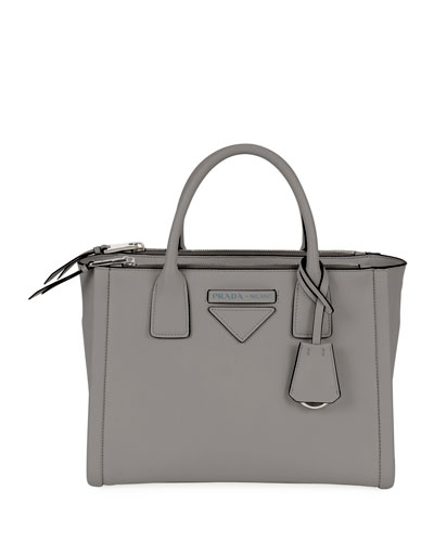 Leather Carryall with Wide Shoulder Strap