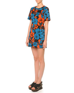 Bonded Jersey Pimpernel Blossom Dress